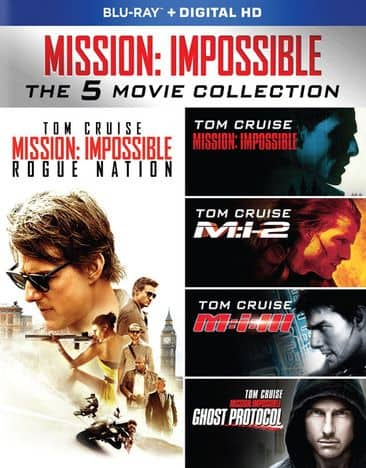 Mission: Impossible 5-Movie Collection (Blu-ray + Digital) $8.98, Jack Ryan 5-Movie Collection (Blu-ray) $11.98 + Free Shipping