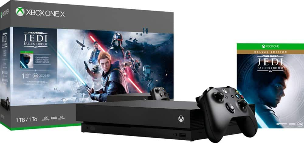 1TB Microsoft Xbox One X Star Wars Jedi Fallen Order Console Bundle with $100 Dell Promo Gift Card - $299.99 @ Dell