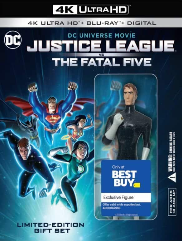 Best Buy Stores: Justice League vs. The Fatal Five Limited Edition Gift Set w/ Figure (4K Ultra HD + Blu-ray + Digital) $9.99 B&M YMMV