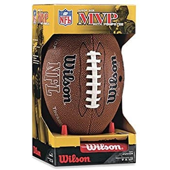 Add-on Item: $6.61 Wilson NFL MVP Junior Football with Pump and Tee AMAZON