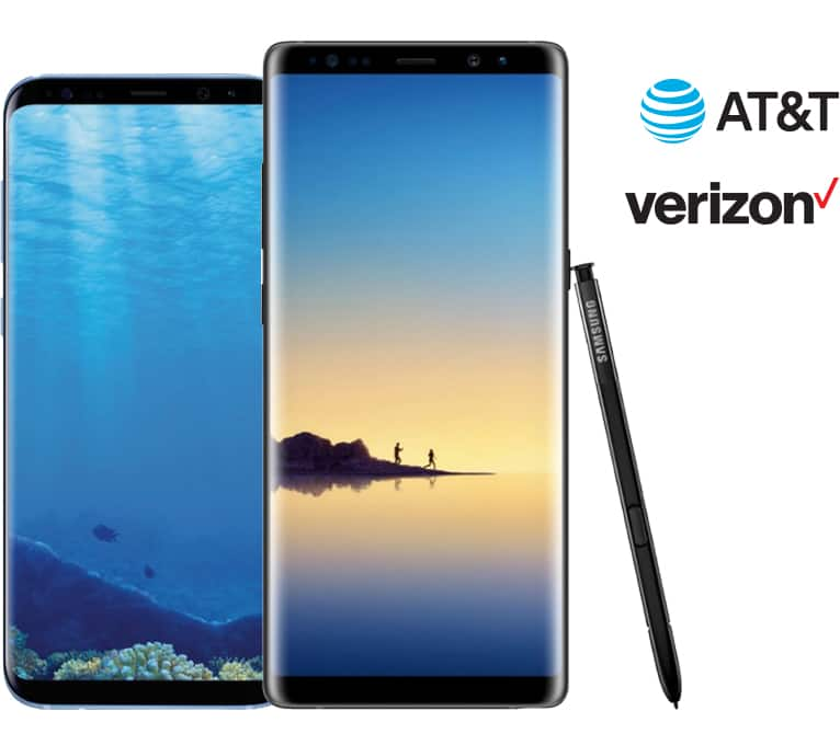 VZW/AT&T Galaxy Note 8/S8+/S8 up to $250 off w/ activation + $100 GC @ Best Buy B&M