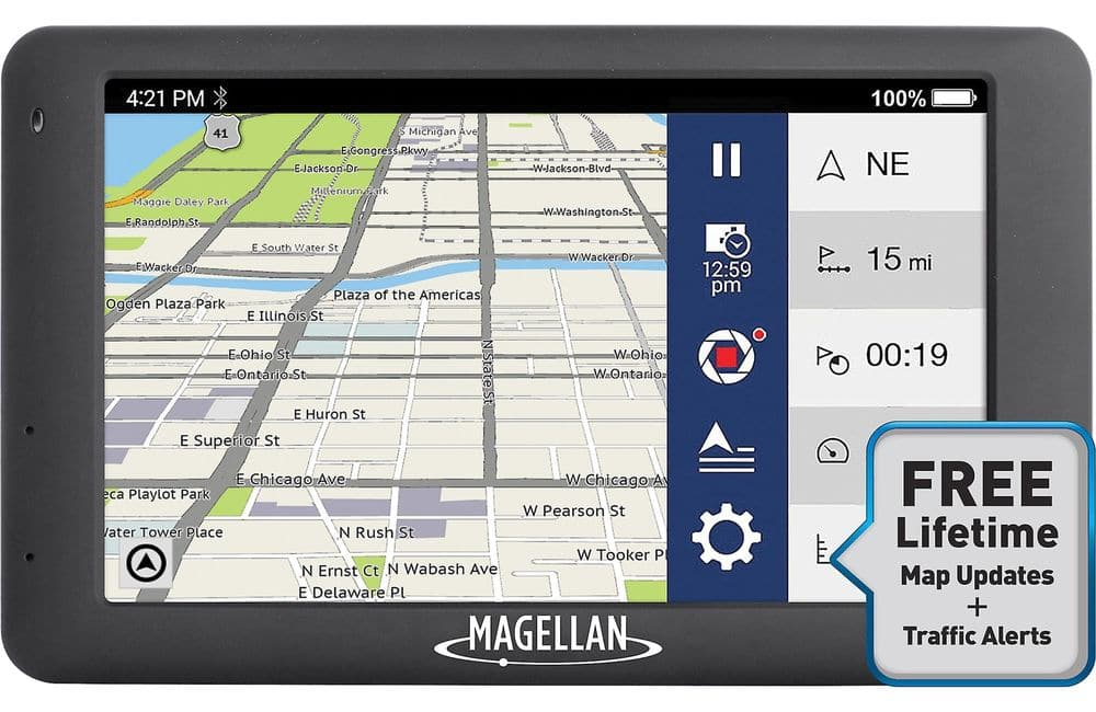 "Magellan RoadMate 6630T-LM 5"" GPS with integrated dash cam, free traffic alerts and lifetime maps.  $69.99 at eBay $70"