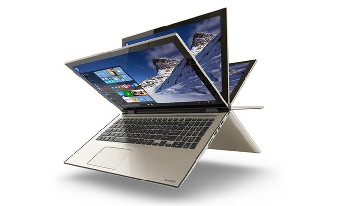 """Toshiba 15.6"""" 2-in-1 Touch laptop 1080P w/ Corei5 6GB 1TB $599 @ Groupon free ship"""