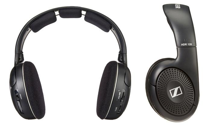 Sennheiser Wireless Headphones w Transmitter & Charging Dock RS120 - $59 @ Groupon
