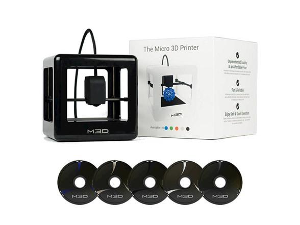 M3D 3D Printer + 5 Spools of Filament in 4 color options $199 @ Woot