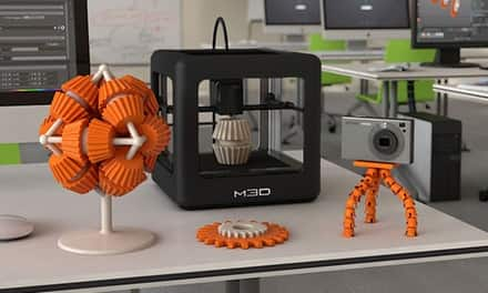 M3D 3D Printer + 5 Spools of Filament in 4 color options $199 @ Groupon