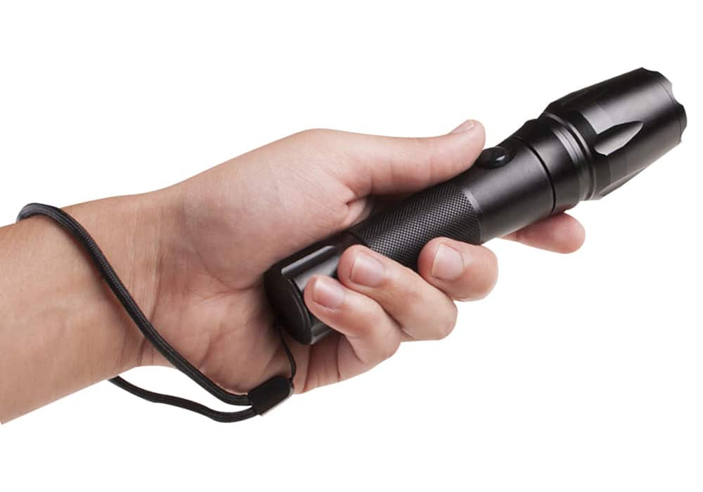 Rugged Metal LED Flashlight w/ rechargeable batteries + charger + pouch - $16 @ BJs $16.99