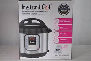 Instant Pot IP-DUO60 V2 Programmable Electric Pressure Cooker, 6Qt, 7 in1 Cooker $63.99