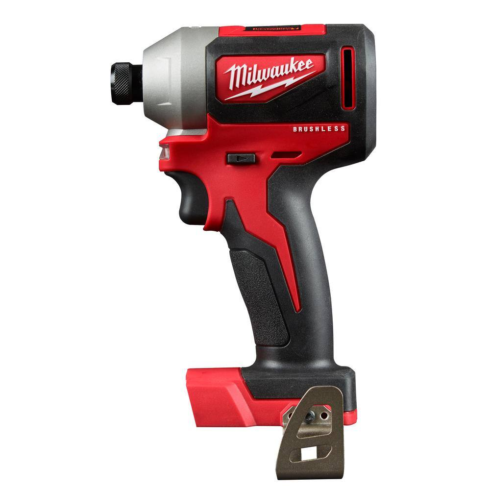 M18 18-Volt Lithium-Ion Brushless Cordless 1/4 in. Impact Driver Kit B&M only $99