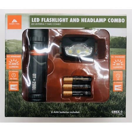 Walmart - Ozark Led Flashlight and Headlamp Combo. On Clearance for $2. B&M YMMV