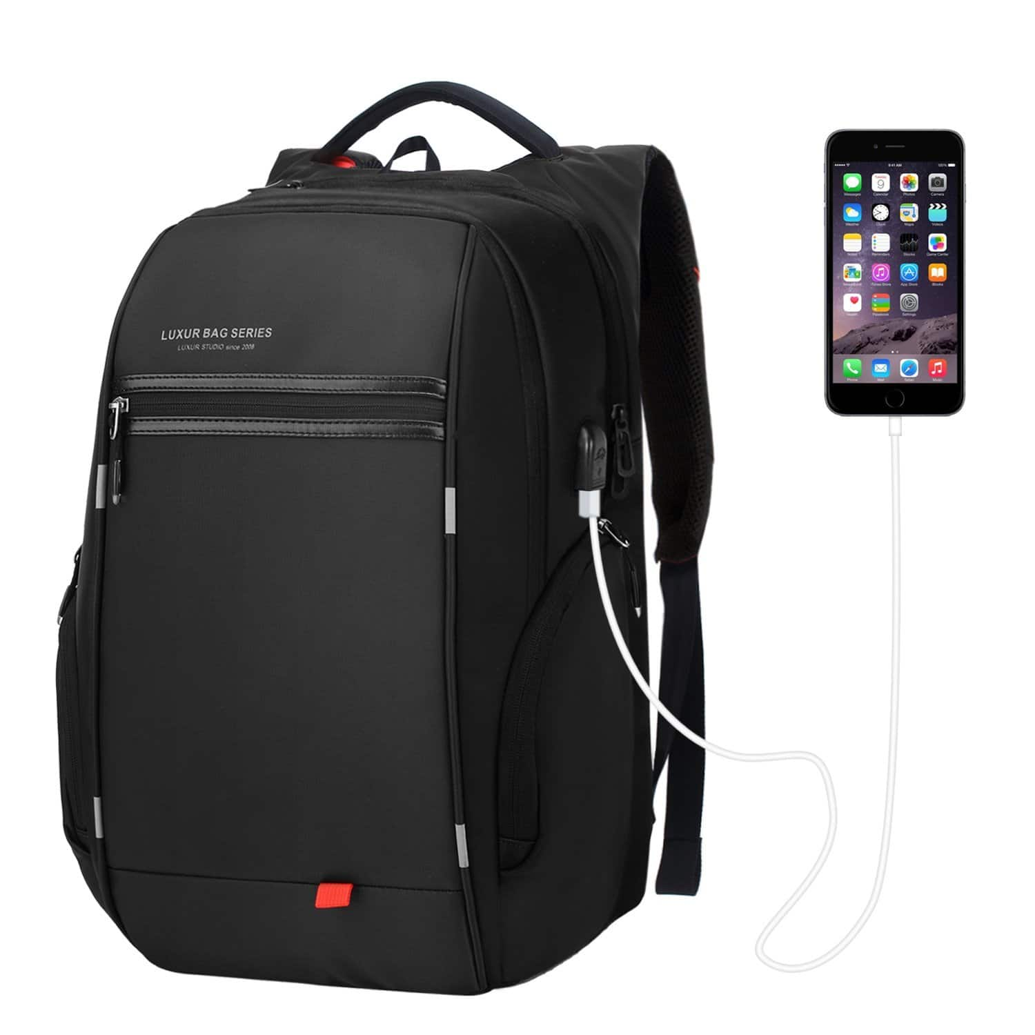 37L Waterproof Laptop Backpack with USB Charging Port $23.99 FS @Amazon