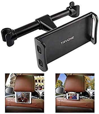 """Car Headrest Mount, Car Seat Tablet Holder for iPad/ Samsung Galaxy Tabs/ Amazon Kindle Fire HD/ Nintendo Switch/ Other Devices 4""""-10.1"""" (Black) - $7.80 AC"""