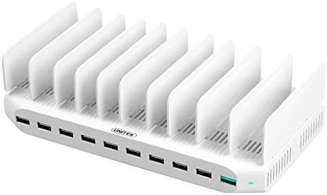 10-Port USB Charger Charging Station with Quick Charge 2.0 $22.49 AC - Amazon