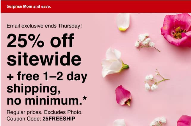 CVS 25% Off sitewide + Free Shipping