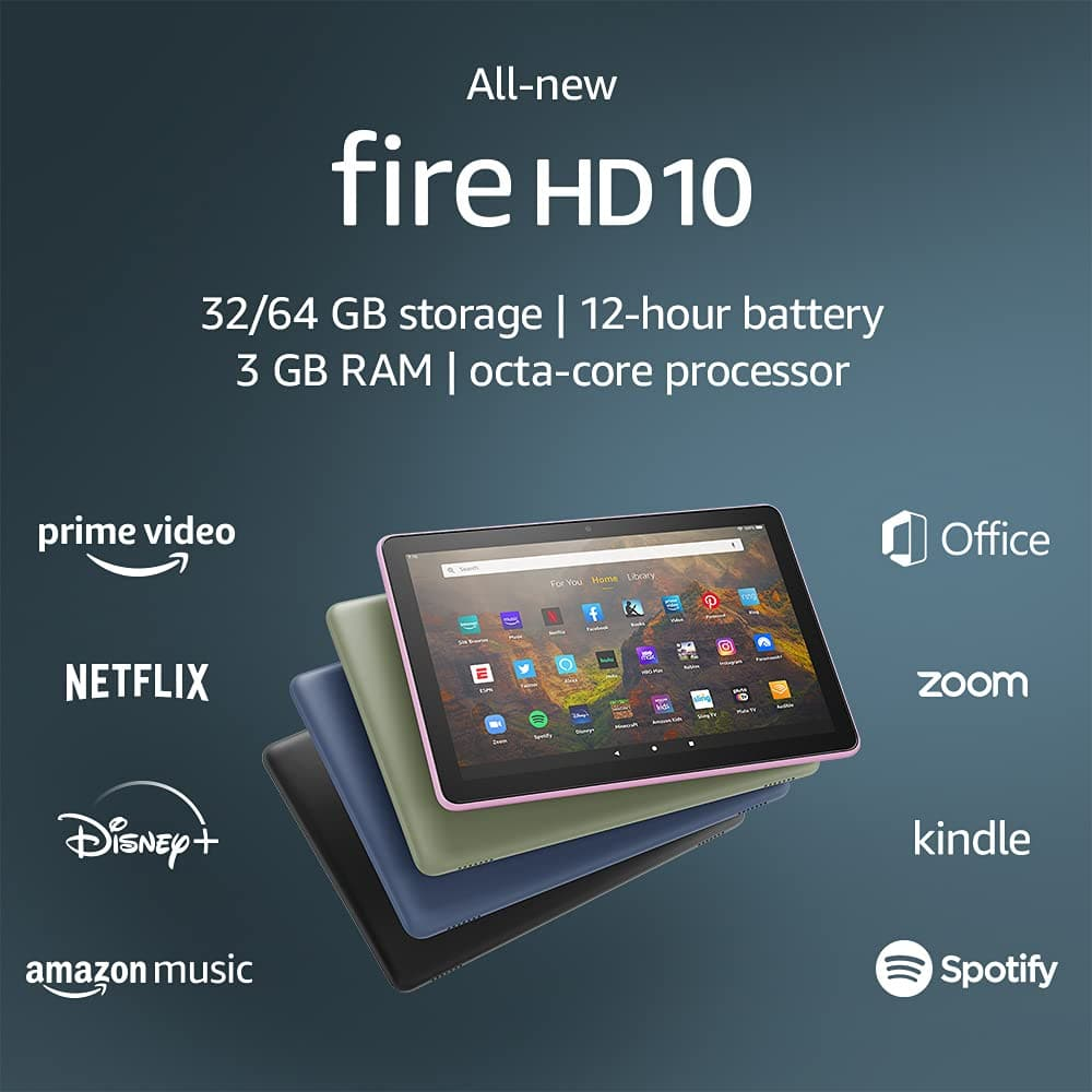 Amazon Fire HD 10 Tablet 32GB for $79.99 when you order with Alexa