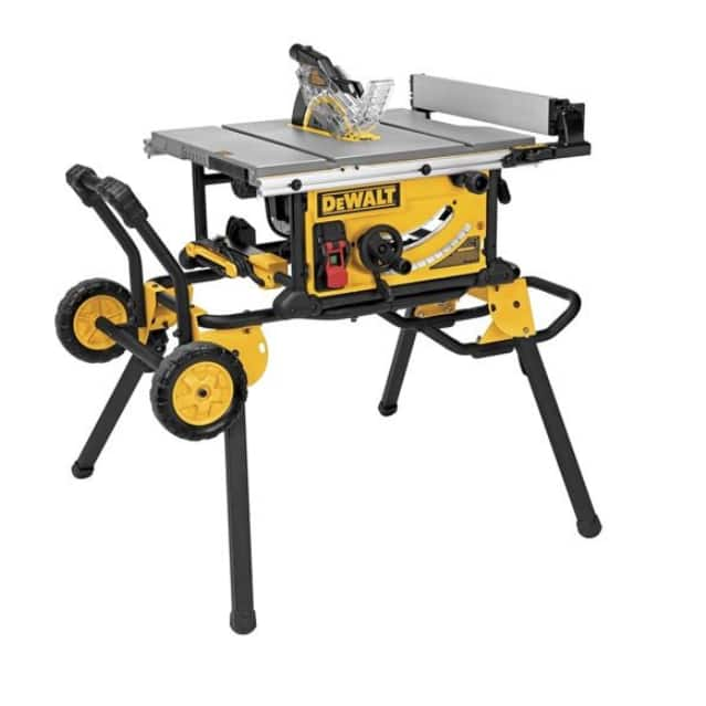 """DeWalt DWE7491RS 10"""" Jobsite Table Saw w/ Rolling Stand $439 + Free Shipping"""