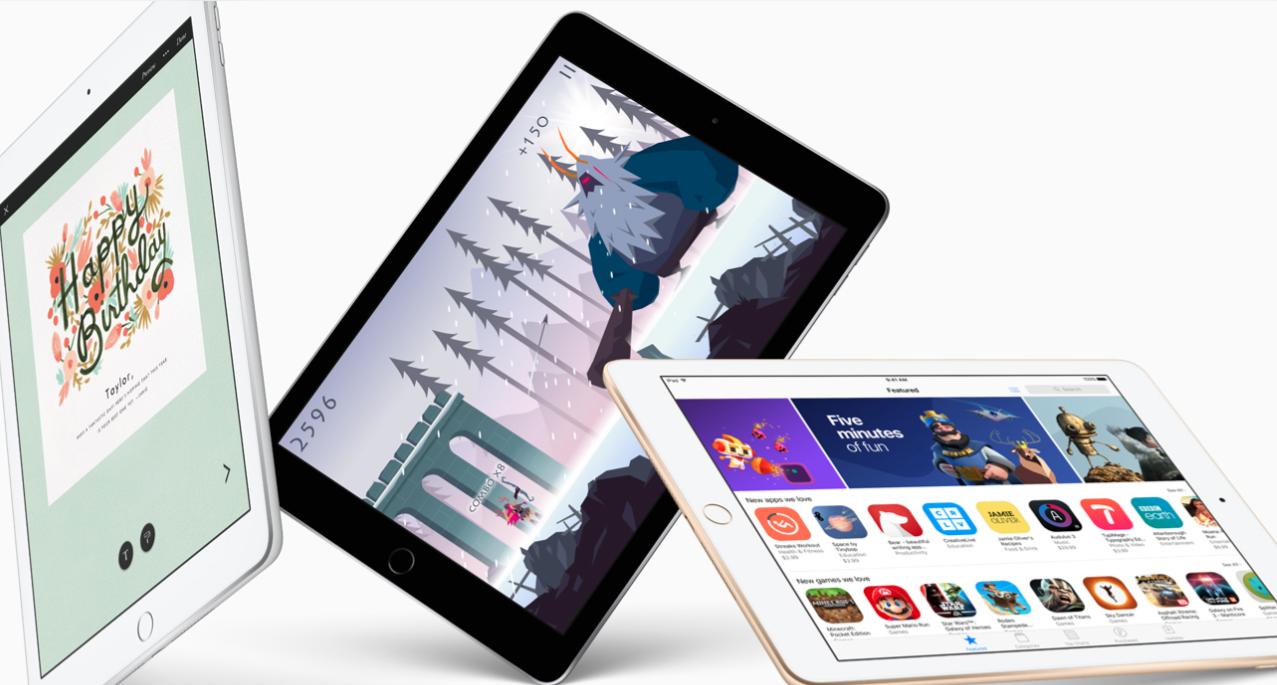 """Apple iPad 9.7"""" WiFi Tablet (2017): 32GB $270"""