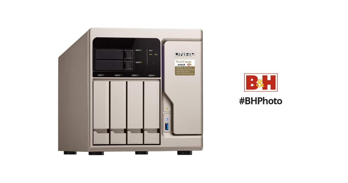 QNAP TS-x77 Ryzen NAS Server with free B&H Gift card ranging from $200 to $400 depending on model, Free Shipping + No Tax outside NY & NJ $1699