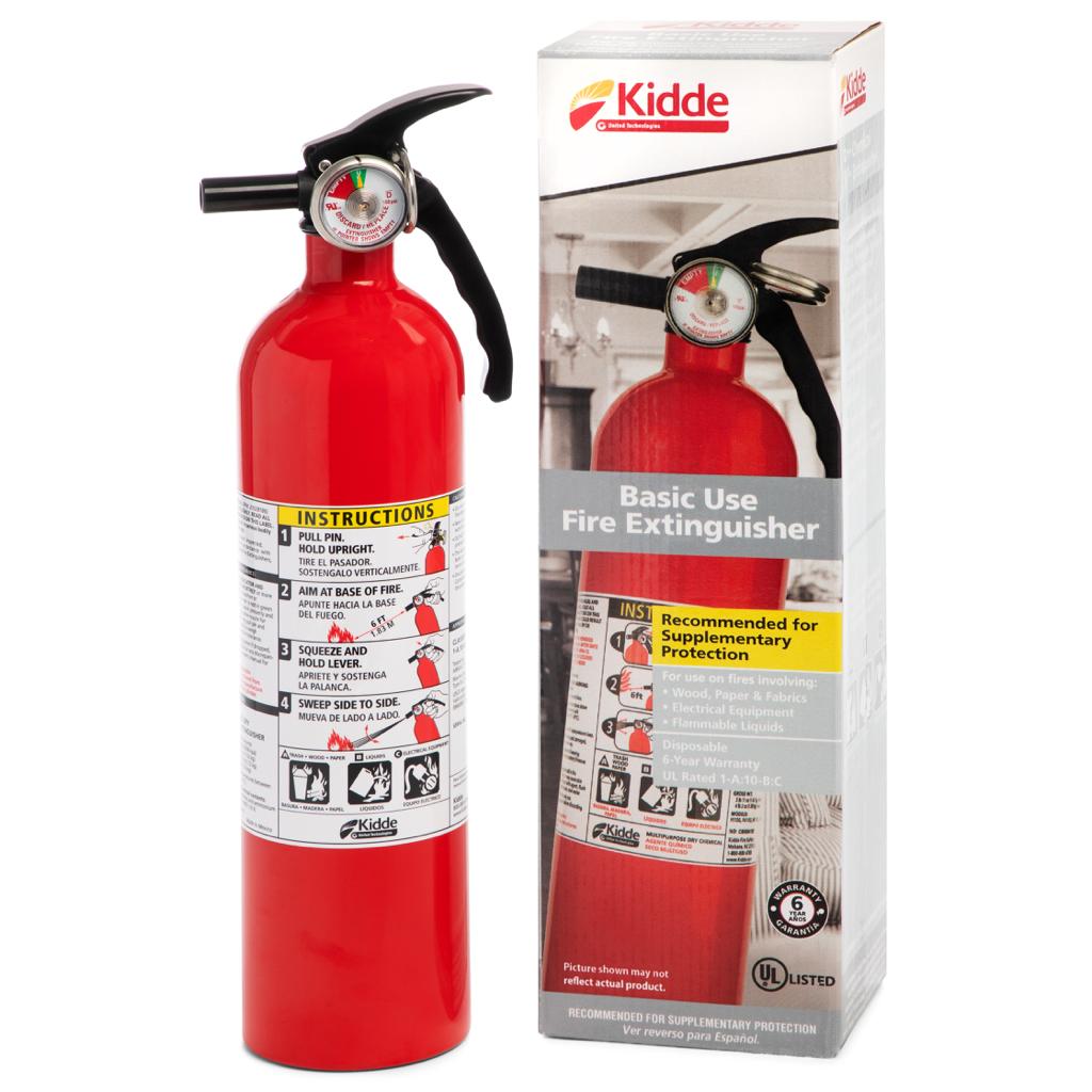 Kidde 1A10BC Basic Use Fire Extinguisher, 2.5 lbs. - $10.00 at Walmart