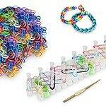 Loom Band Bracelet Mega Pack With 600 Bands, Tool, Loom, S Clips & Charms For $4 + Free Shipping @ a4c