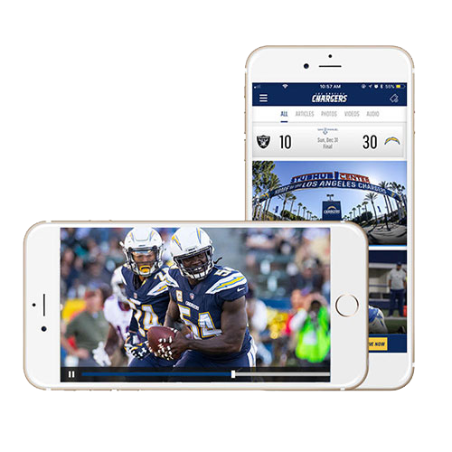 Free - Stream Live L.A. Chargers games the entire season via Official Team App