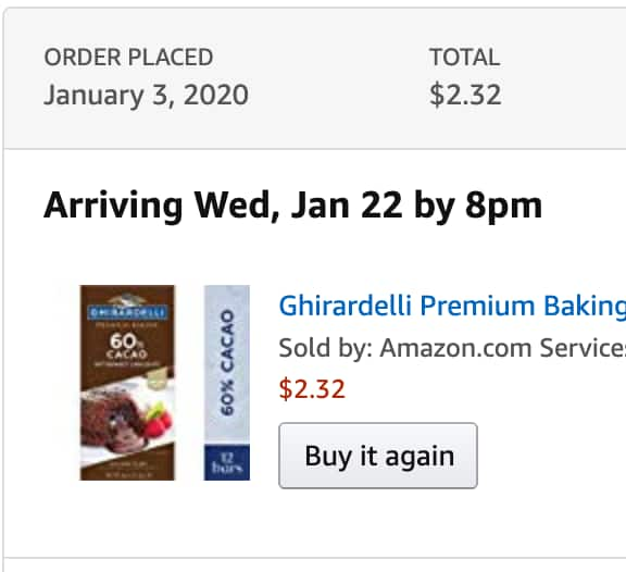 YMMV - Ghirardelli Premium Baking bar, 60% Cacao Bittersweet Chocolate, 4 Oz (Pack Of 12) $2.32