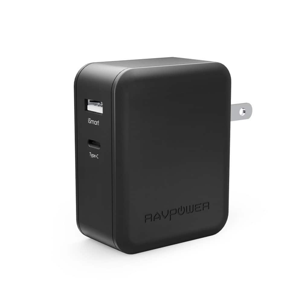 USB-C RAVPower 36W Power delivery wall charger $11 @amazon