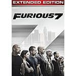 Furious 7 (Extended Edition - Digital HD) for $9.99 on iTunes and Amazon Video