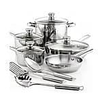 12pc Stainless Steel Cookware Set $40
