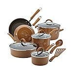 Rachael Ray® Cucina 12-pc. Mushroom Brown Hard Enamel Nonstick Cookware Set $99.99