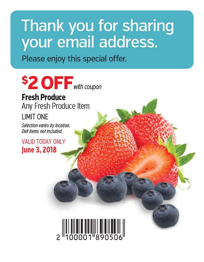 Costco $2 off Produce Coupon Valid 6/3 Only