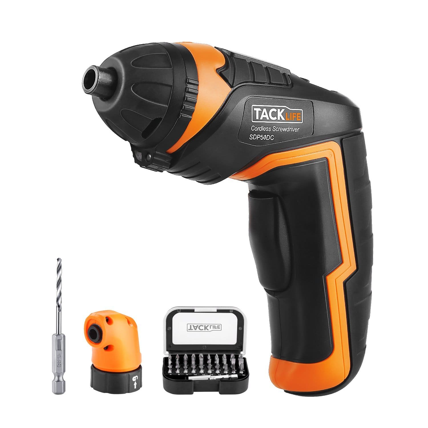 Tacklife SDP51DC Cordless Rechargeable Screwdriver 3.6-Volt for $24.73