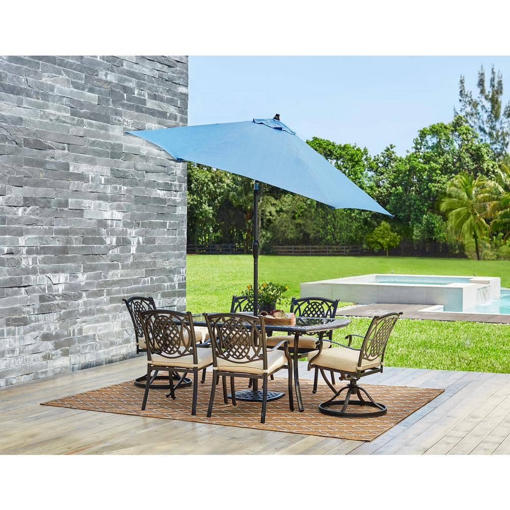 B&M YMMV Hampton Bay 9 ft. Aluminum Patio Umbrella w/ tilt $22-$44
