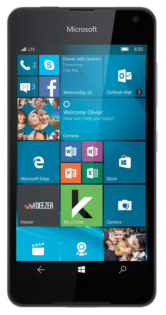 Microsoft Lumia 650 Free after porting in and 1 month service fee