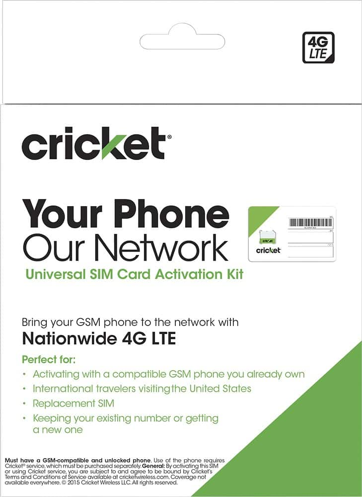 20% off Cricket Prepaid Refill Card with Cricket SIM Card Start Kit from Bestbuy