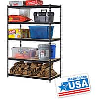 "Walmart Deal: Edsal 48""W x 24""D x 72""H 5-Shelf Steel Shelving, Black $53.10 @ Walmart $4.97 Shipping"