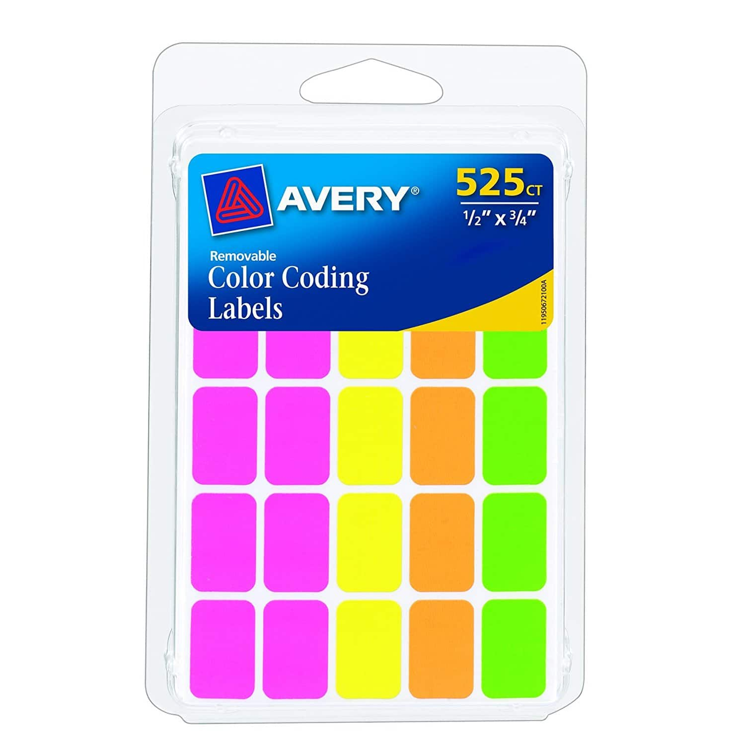 PREVIOUS FRONT PAGE DEAL BUT CHEAPER Avery Removable Color Coding Labels, Rectangular, Assorted Colors, Pack of 525 ONLY $0.68 after slow ship credit !!