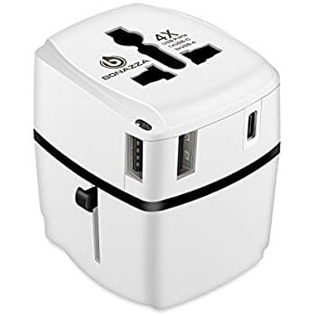 International(150+ countries) Travel Power Adapter w/4 Fast Charging USB Port (3 USB A +1 USB C) $13.49 shipped with Amazon Prime