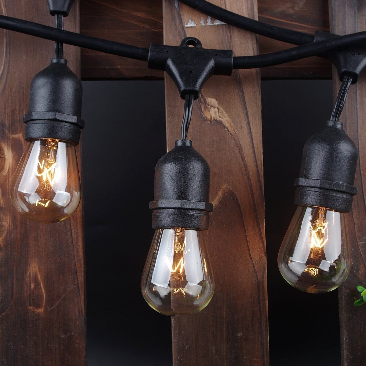 48ft (15 bulb) Weatherproof Vintage Outdoor String Lights bulbs for $27.99 AC + free shipping at Amazon