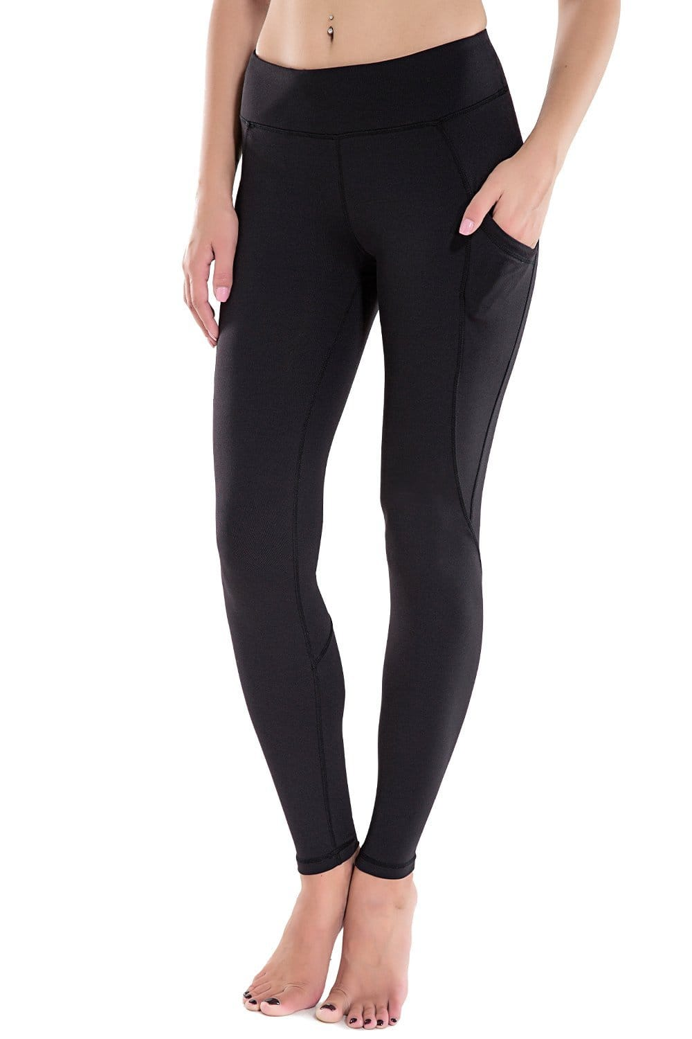 Women's Workout Ankle Leggings with Side Pockets Running Yoga Pants $13.99 AC FS w/Amazon Prime