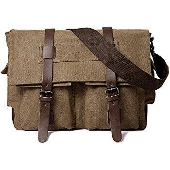 "Cambond Canvas 14"" Messenger Bag Travel Shoulder Bag $15.99 @Amazon"