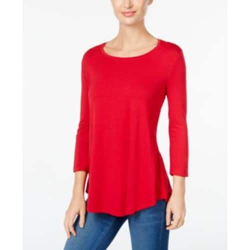 JM Collection Scoop-Neck Top - $34.50+ FS