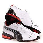 PUMA Men's Tazon 5 Cross-Training Shoe (White/Black Grey/Ribbon Red) for $29.73+tax for Amazon Prime members
