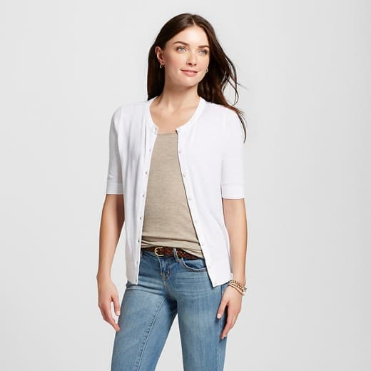 Target: Women's Short Sleeve Crewneck Jersey Cardigan for $5.98 ...