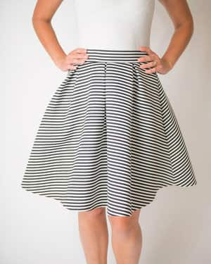 Bellechic - Striped A-Line Hannah Circle Skirt - $30.99 - Buy 1 Get 1 Free with Coupon Code BOGOMADNESS