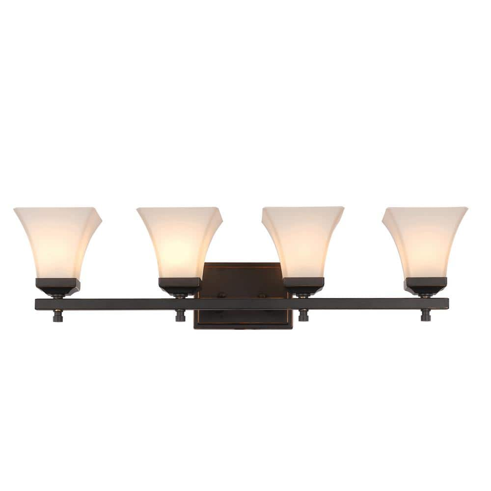 4-Light Rubbed Oil Bronze Bath Light for $56.76 and FS