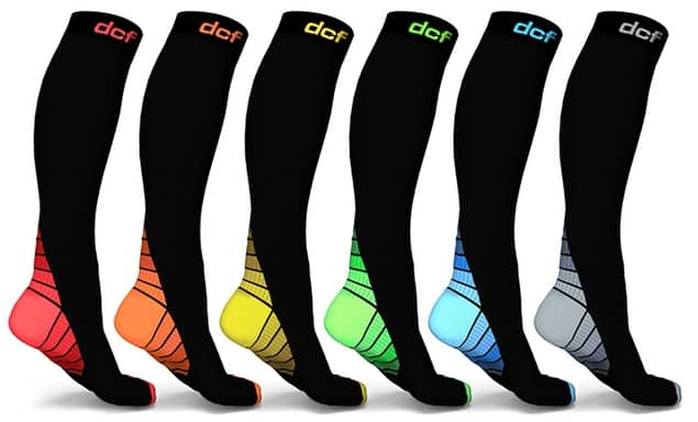 52c7e365b1 6-Pack DCF Unisex Sports Compression Socks for $14.99 and FS ...