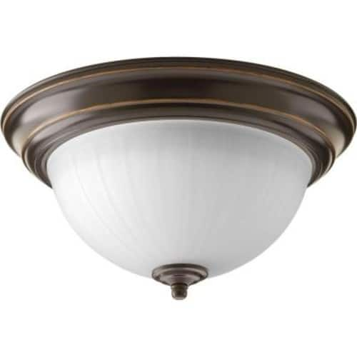 11.375 in. 1-Light Antique Bronze Integrated LED Flushmount for $16.20 and FD