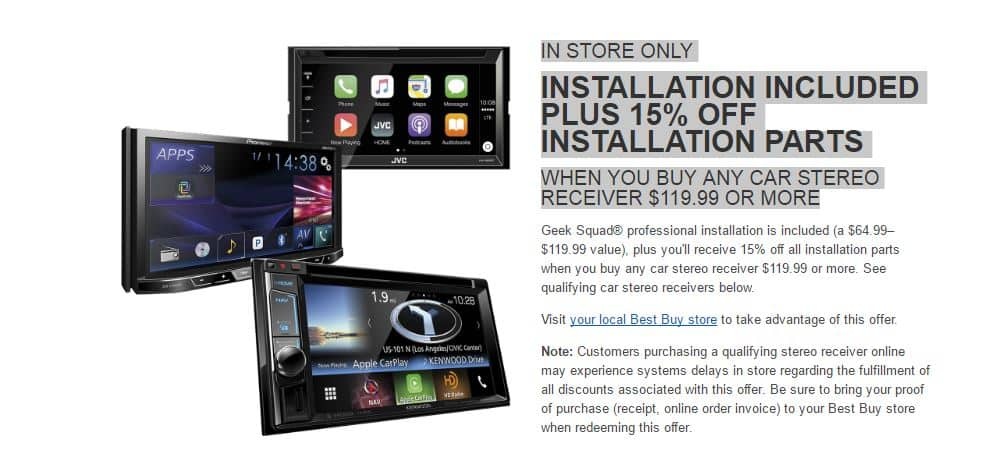 Best Buy Stereo INSTALLATION INCLUDED PLUS 15% OFF INSTALLATION ...