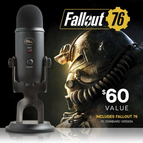 Blue - Blackout Yeti for $104.99 + Fallout 76 (Free shipping)
